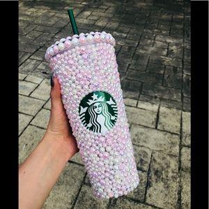 Pastel pink pearl bling Starbucks venti tumbler